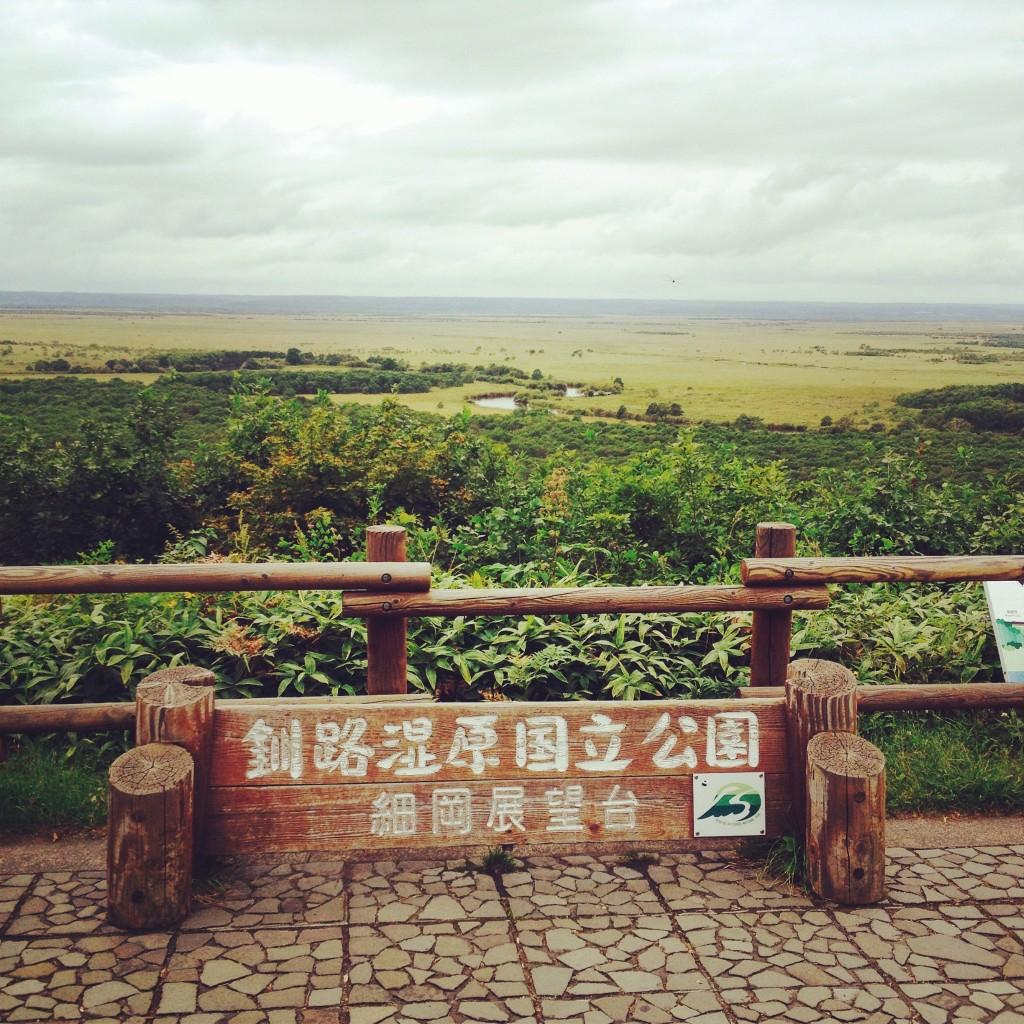 釧路湿原の展望台